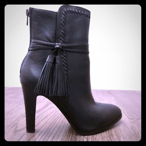 Coach Jessie Silky Nappa Black Leather Ankle Boot